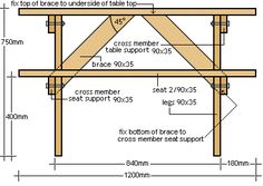 bbq table front plans
