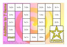 Addition to 7 Board Game (SB11530) - SparkleBox
