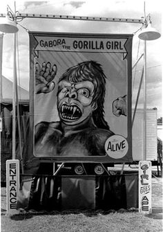 Gabora the Gorilla Girl Vintage Prints, Vintage Posters, Freak Show Circus, Myths & Monsters, Circus Party, Circus Circus, Wax Museum, Vintage Circus, King Kong