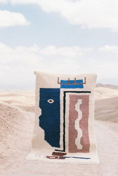 Marrakesh-based Lrnce's Asma Beni Ouarain Rug is hand-made by four Moroccan women; Diy Carpet, Wall Carpet, Stair Carpet, Rugs On Carpet, Tapis Design, Carpet Trends, Carpet Ideas, Cheap Carpet Runners, Textiles