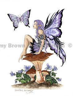 Amy Brown Fairy Art - The Official Gallery Elfen Tattoo, Amy Brown Fairies, Dark Fairies, Dragons, Fairy Drawings, Kobold, Fairy Pictures, Butterfly Fairy, Tatoo Art