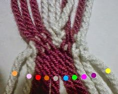 HandMade: Como hacer gasa, fajon tipo wayuu Crochet Belt, Crochet Necklace, Beaded Necklace, Tapestry Crochet, Knitted Bags, C2c, Crochet Projects, Knots, Braids
