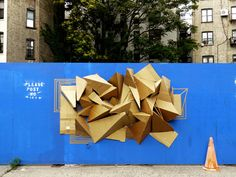 Cardboard Installations in NYC by Clemens Behr