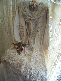 ❤️ Lagenlook Soft Crochet/Cotton Dress
