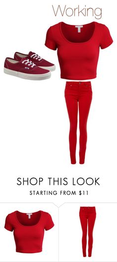 """""""Working"""" by lucyheartfilia964 ❤ liked on Polyvore featuring LE3NO, Paige Denim and Vans"""