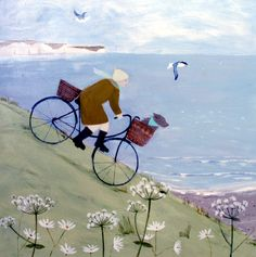 The Great Escape Print at Whistlefish - handpicked contemporary & traditional art that is high quality & affordable. Artist Painting, Art Paintings, Print Artist, Art Print, Art Carte, Art Populaire, Les Cascades, Art Et Illustration, Bicycle Art
