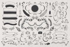 Hand Drawn Logos + Elements Vol. 1 by MakeMediaCo. on Creative Market