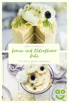 Harry and Meghan have broken with tradition and chosen a fresh and floral flavour for their wedding cake! Lemon and elderflower are a match made in culinary heaven and you can bake your own (mini) royal wedding cake at home. Now although we will never know the exact recipe, we've made our own version by using visual inspiration from their wedding cake maker's Instagram page : @violetcakeslondon