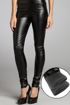 RD Style black stretch faux leather leggings at ShopStyle Faux Leather Leggings, Leather Pants, Lederhosen, Skinny Fit, Streetwear Brands, Luxury Fashion, Fashion Outfits, Fashion Design, Clothes