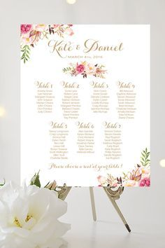 Wedding Seating Chart Large Poster by CharmingEndeavours on Etsy
