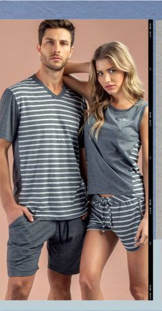 Cute outfits matching ideas for couples Cute Pajama Sets, Cute Pajamas, Cute Summer Outfits, Cool Outfits, Fashion Outfits, Women's Sleep Shirts & Nightgowns, Mens Leisure Wear, Pijamas Women, Pyjamas