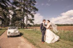 Super cool old Morris Minor - from Katie and Matt's tipi wedding near Faringdon, Oxon.