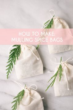 These DIY mulling spice bags are the perfect little holiday gift for your apple cider obsessed friend. The perfect little gift or stocking stuffer, Mulled Wine Spices, Mulling Spices, Spiced Cider, Apple Cider, Cider Gifts, Wine Parties, Bridal Shower Games, Diy Christmas Gifts, Holiday Treats
