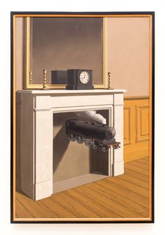 Time Transfixed - (Artist: Rene Magritte) - Masterpiece Classic Giclee Gallery Print, Wall Decor Travel Poster), Size: 36 x 54 Giclee Print, Multi Rene Magritte, Artist Magritte, Max Ernst, Conceptual Art, Surreal Art, Yves Tanguy, Magritte Paintings, Art Parisien, Oil Canvas