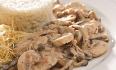 Estrogonofe de cogumelos - Receitas - Danone