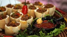How to organize a tea bar? Party Snacks, Appetizers For Party, Mini Foods, Appetisers, Coffee Break, Finger Foods, Tapas, Catering, Snack Recipes