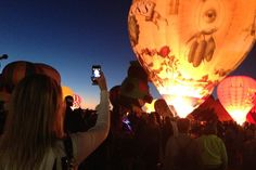 Albuquerque: The Albuquerque International Balloon Fiesta looks amazing. We'd love to be up there!