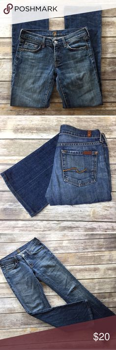 """7FAM 25x29 Nakita Bootcut Jeans """"Nakita"""" Bootcut Jeans, size 25, ▪️Inseam 29"""" ▪️Rise 7▪️Waist 13.5 VGUC. Perfect medium wash. 7 For All Mankind Jeans Boot Cut"""