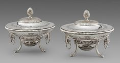 A Pair of Louis XVI French Dishes on Stands Mark Roberts, French Dishes, Gold Box, Louis Xvi, Makers Mark, Joseph, Objects, Monogram, Pairs