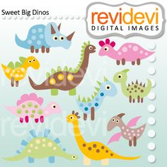 Sweet Big Dinos - for your craft and creative projects. Paper Art, Paper Crafts, Diy Party, Party Ideas, Dinosaur Party, Summer Crafts, How To Make Paper, Digital Stamps, Party Printables