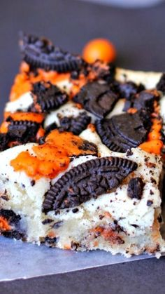 Halloween Oreo Cake Bars Recipe