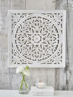 Our beautifully carved, square wooden wall panel makes a true style statement.