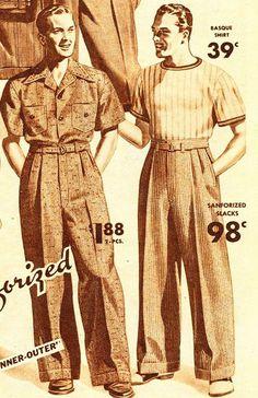Wide Leg Trousers. 1940