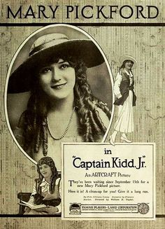 "Mary Pickford, in ""Captain Kidd, Jr."" (1919)"
