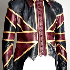London's Impero Leather offers this fantastic tailed leather jacket, a steampunk answer to the postapocalyptic duster that the late Alexander McQueen designed for David Bowie in the 1990s.