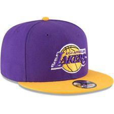 Los Angeles Lakers LA New Era 9FIFTY NBA 2Tone Adjustable Snap Snapback Hat  Cap FREE SHIPPING! NBA Team Accessories ddb63a1a454