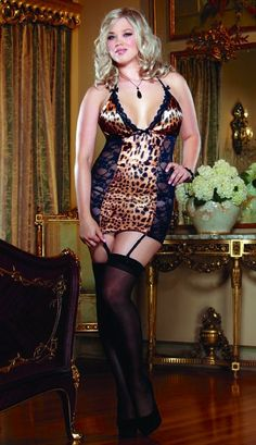 043c7bf8d4baa Womens Plus Size Stretch Lace Gartered Cami Camisole Tank Lingerie ...