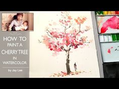 [ Level 2 ] How To : Watercolour Painting / Demonstration for Beginners / 수채화 그림 그리기 ❖ Jay Lee is a specialized watercolor artist. JayArt videos are showing . Watercolor Painting Techniques, Watercolor Landscape Paintings, Watercolor Trees, Easy Watercolor, Watercolour Tutorials, Tree Painting Easy, Dandelion Painting, Cactus Painting, Japan Watercolor