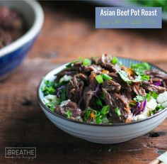 This delicious low carb Asian beef pot roast recipe will be an instant hit! Serve it over cauliflower rice or in lettuce leaves Korean BBQ style!