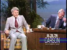 "Steve Martin tells Johnny Carson he has to leave on ""The Tonight Show Starring Johnny Carson"" in One of the funniest moments on the Johnny Carson show! Here's Johnny, Johnny Carson, Ariana Grande, Funny Moments, Funniest Moments, Carol Burnett, Steve Martin, Tonight Show"