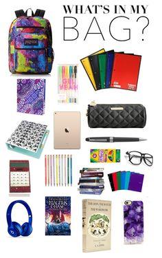 Designer Clothes, Shoes & Bags for Women Back To School Supplies List, School Tips, School Hacks, College School, School Ideas, School Backpack Organization, School Survival Kits, Aesthetic Backpack, Backpack Essentials