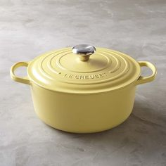 This is now like the number 1 thing on my kitchen wishlist! Le Creuset Signature Cast-Iron Round Dutch Oven, 3 1/2-Qt, Matte Yellow