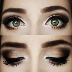 A warm chocolate smokey eye look