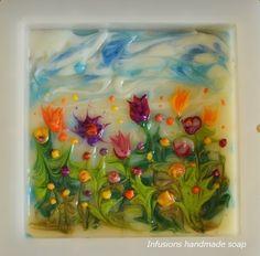 A flower field in June - ebru soap challenge