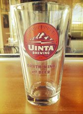 Pint Glass, of course, Uinta Brewing
