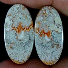 21.05Cts 100% NATURAL CRAZY LACE AGATE DESIGNER GEMSTONE OVAL CABOCHON PAIR #Handmade