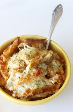 When I'm craving something cheesy, nothing else will do, and this high-protein pasta bake is what my comfort-food dreams are made of.
