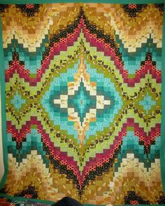 Bargello Quilt Top 58    awesome!! so pretty!