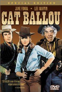 """""""Cat Ballou"""" starring Jane Fonda as Cat and Lee Marvin in a dual role as Kid Shalleen and as Tim Strawn. One very funny Western. I'm not sure I've seen a Jane Fonda flick since she opened her yap about the Vietnam War. Nevertheless, this was a very enjoyable movie. #comedies #janefonda #westerns Find more interesting boards here: http://www.pinterest.com/swisstoons/"""