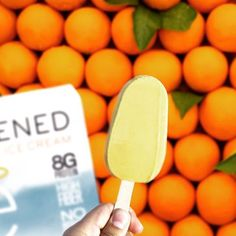 Orange you glad Enlightened ice cream bars are delicious AND nutritious? 70 calories low fat  and 8 grams of protein!   #protein #healthy #snackattack #delicious #ice #cream #icecream #love #flexibledieting #iifym #workout #muscle #fitfam #bodybuding #eatcleantraindirty #train #workout #cleaneating #eatenlightened #exercise #yum #munchies #motivation #healthysnacking #getinmybelly #fitfood #food #treatyourself