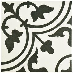 Merola Tile Arte White 9-3/4 in. x 9-3/4 in. Porcelain Floor and Wall Tile (10.76 sq. ft. / case)-FCD10ARW - The Home Depot
