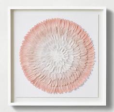 Ombré Feather Mandala Art - Blush