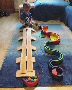 Polar Cub, Diy Montessori Toys, Grimm's Toys, Grimms Rainbow, Kindergarten, Clean Life, Wooden Rainbow, Soft Play, Reggio Emilia
