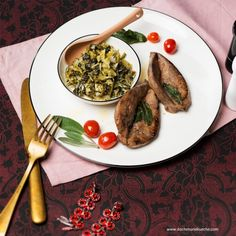 Grünkohl mit glasierter Kalbsleber Kraut, Chicken, Food, Healthy Food, Easy Meals, Cooking, Food Food, Recipies, Essen