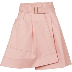Balenciaga Skirts (€427) ❤ liked on Polyvore featuring skirts, pink, balenciaga, pink skirt and balenciaga skirt