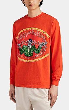 4633375f68ef Warren Lotas Men s Overpricing In Hell Cotton Long-Sleeve T-Shirt - Red
